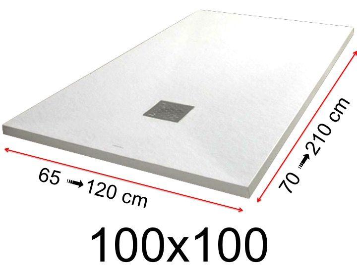 receveur de douche 100x100 cm