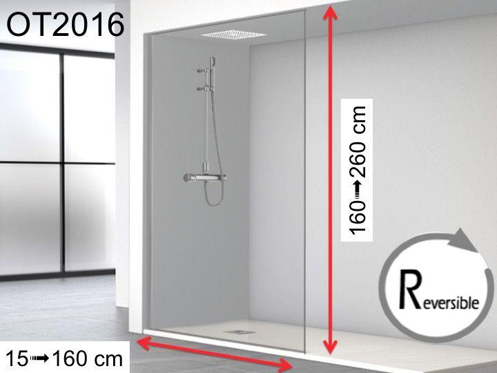 paroi de douche sol plafond sur mesure