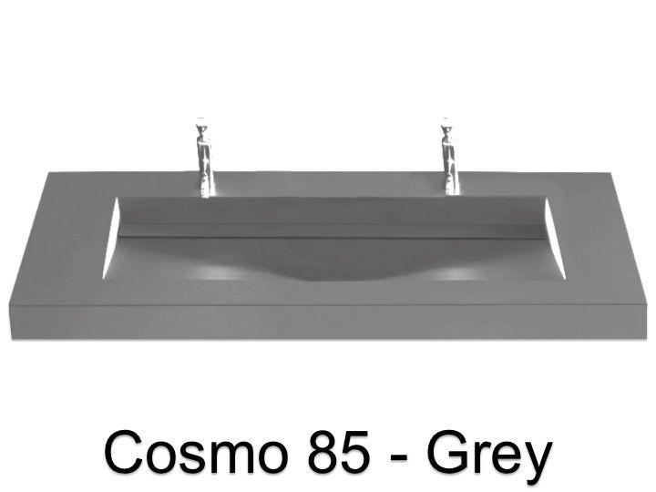 plan double vasque 140 x 50 cm