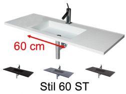 plan vasque vasque lavabo suspendu