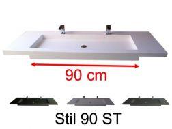 Plan Vasque Vasque Lavabo Suspendu Ou A Encastrer Dans Une Meuble De Salle De Bain 45 X 160 46 X 160 50 X 160 55 X 160 60 X 160 Cm