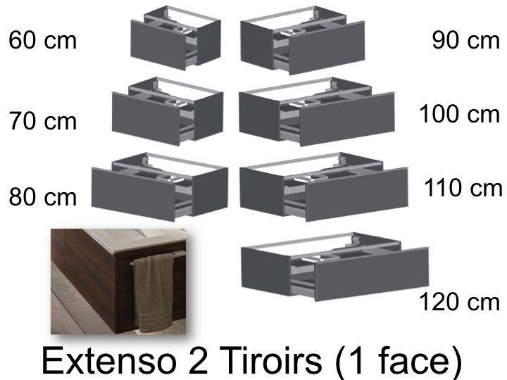 Meuble Salle De Bains 60 Cm 70 Cm 80 Cm 90 Cm 100 Cm 110 Cm 120 Cm 2 Tiroirs Dont A L Anglaise Extenso Cedam