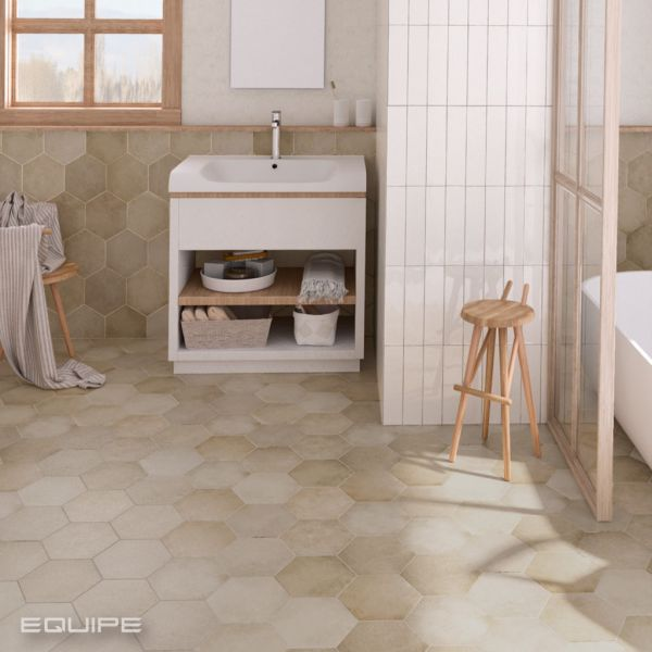 carrelage sol hexagonal type tomette