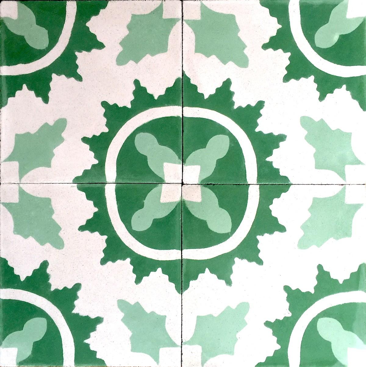 carreaux de ciment mur et sol 1m2 modele ferret vert carrelage mosaique