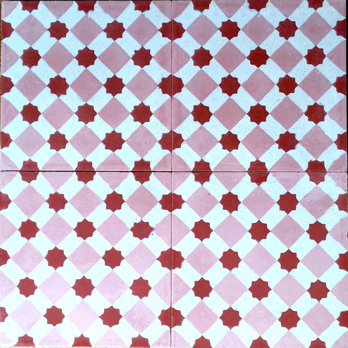 carreaux ciment pas cher sol et mur 1m2 modele frizy rouge carrelage mosaique