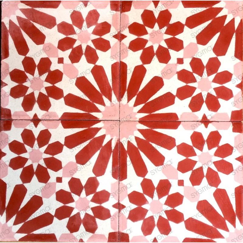 carreaux en ciment 1m2 pas cher modele anso rouge carrelage mosaique