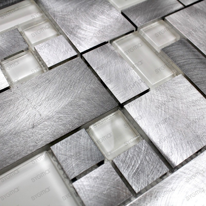mosaique aluminium carrelage cuisine douche salle de bain aspen 1m2