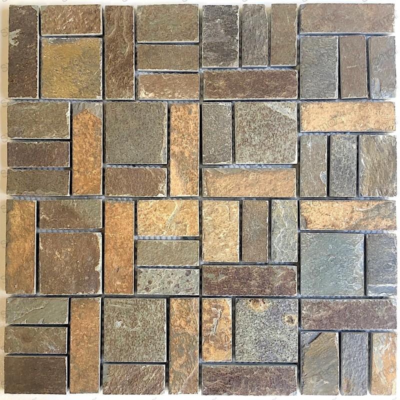 slate stone mosaic tile wall kitchen and bathroom mp kinoa carrelage mosaique