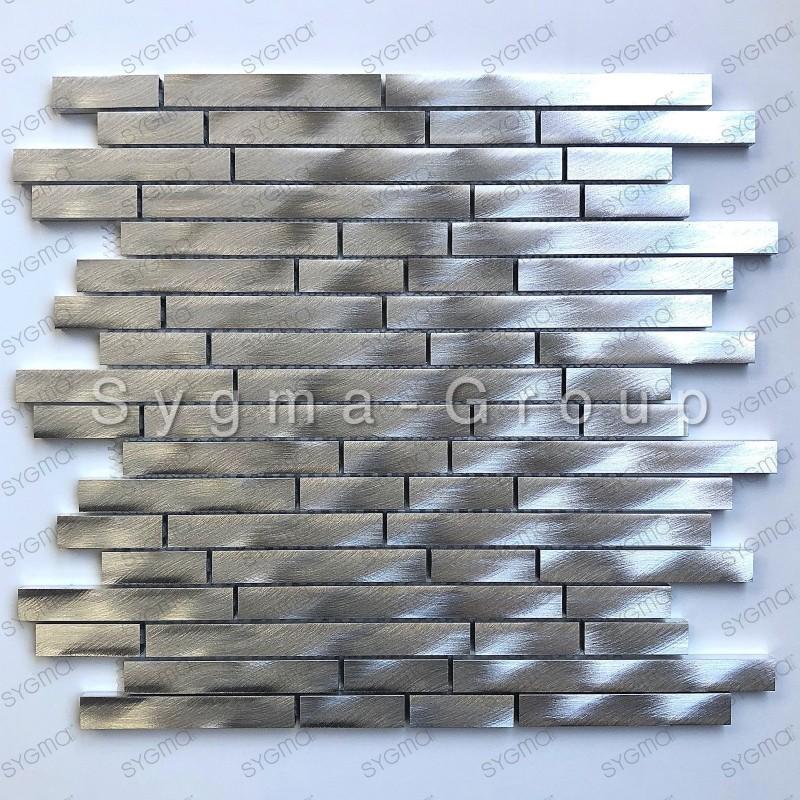 carrelage mural en metal aluminium pour credence de cuisine zelki carrelage mosaique