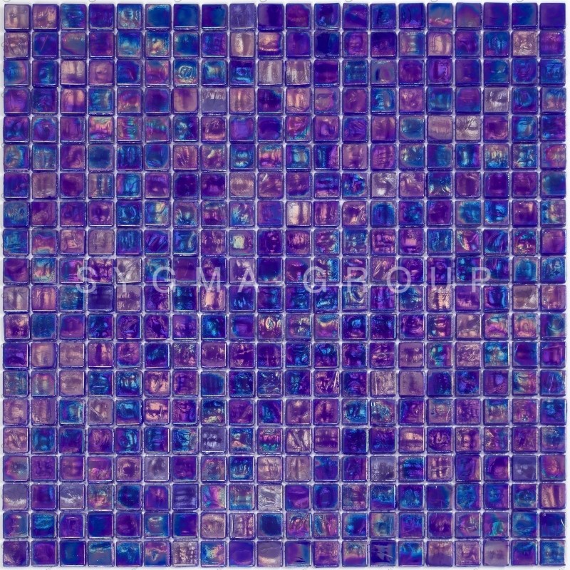 iridescent blue mosaic tiles wall and floor walkinshower and bathroom imperial petrole carrelage mosaique