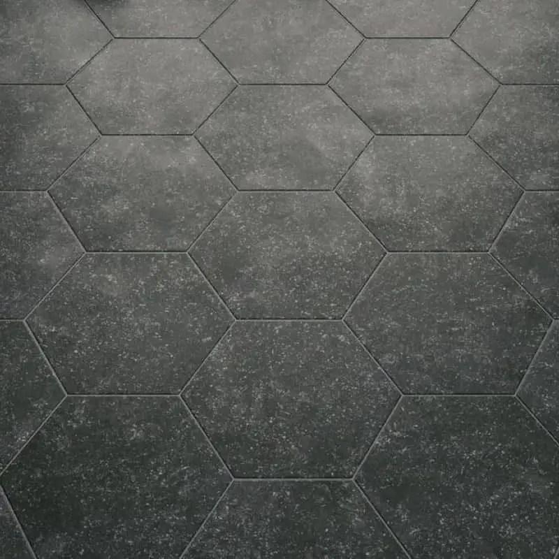 carrelage hexagonal noir 29 2x25 4 coralstone black