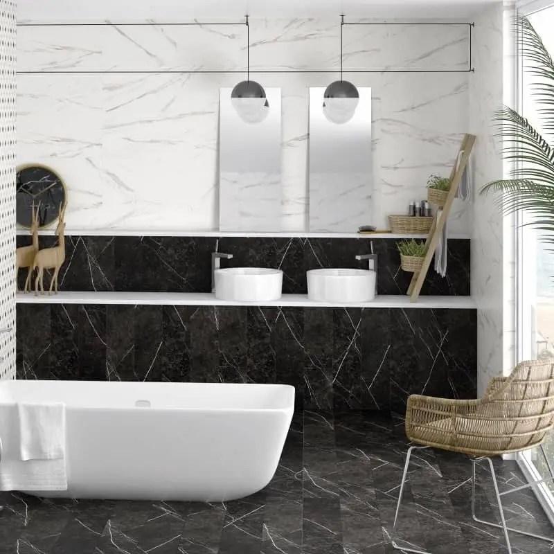 carrelage mural imitation marbre blanc 33 3x100 oberon mat