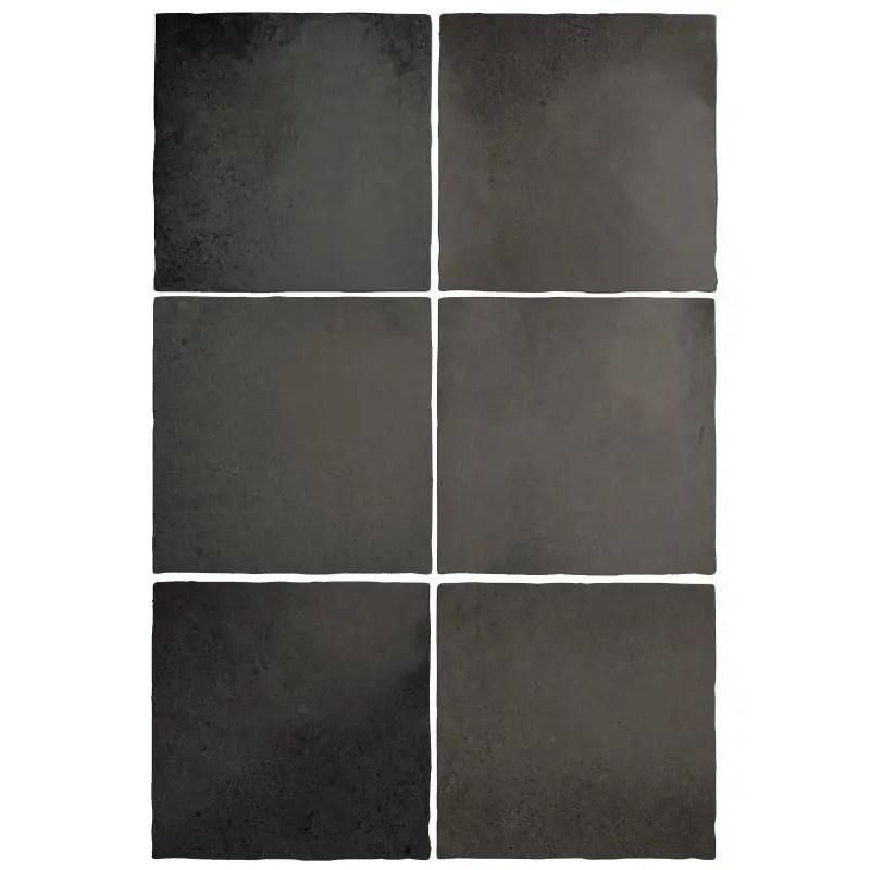 faience 13 2x13 2 zellige noir mat magma black