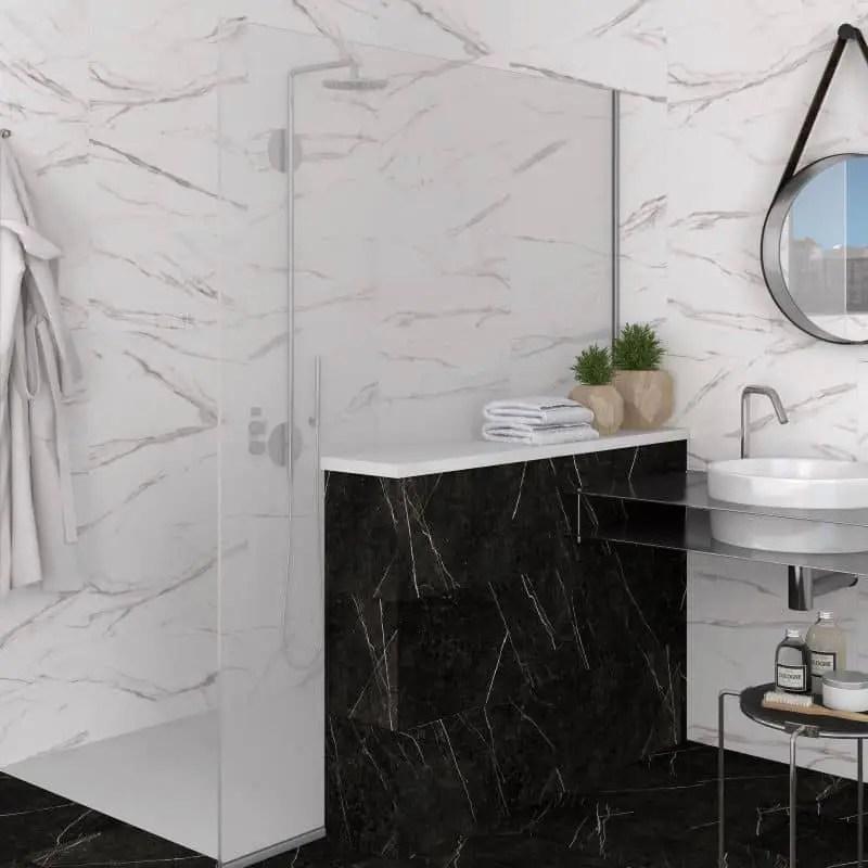 carreau 60x120 effet marbre blanc mat thalassa blanco