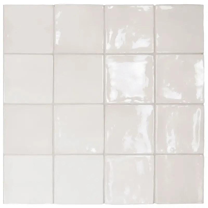 carrelage esprit zellige manacor white 10x10