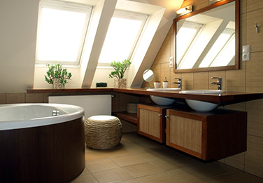 pose de carrelage dans une salle de bains