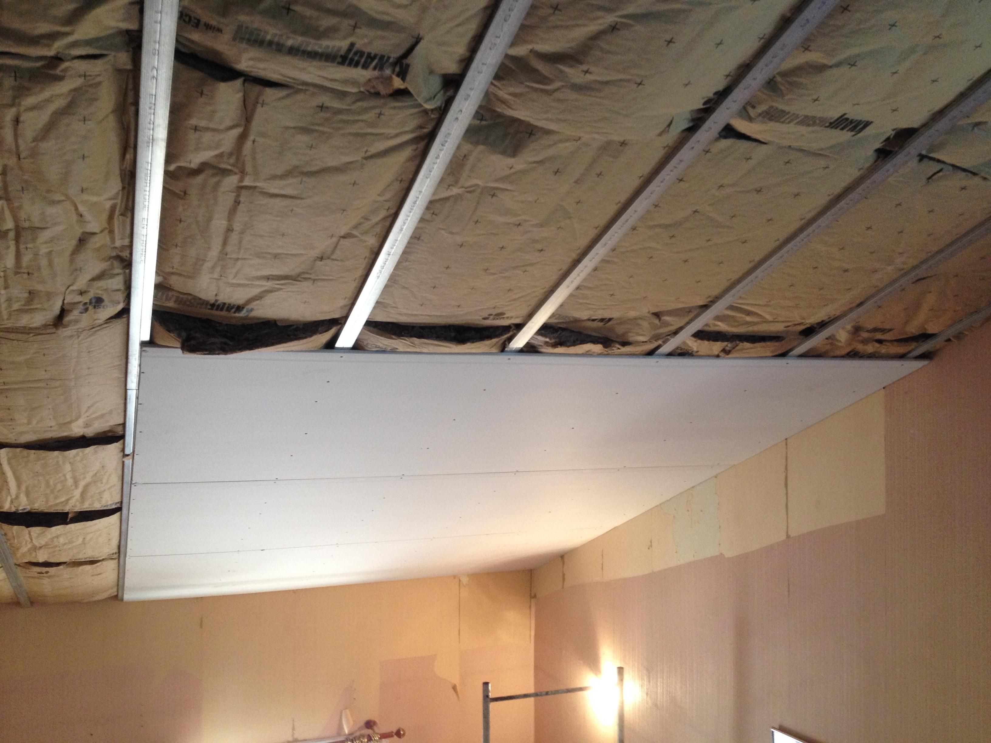 Pose De Placoplatre Au Plafond Comment Isoler Un Pose De