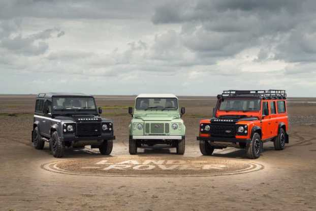 The three Land Rover Defender limited editions - Autobiography, Heritage and Adventure