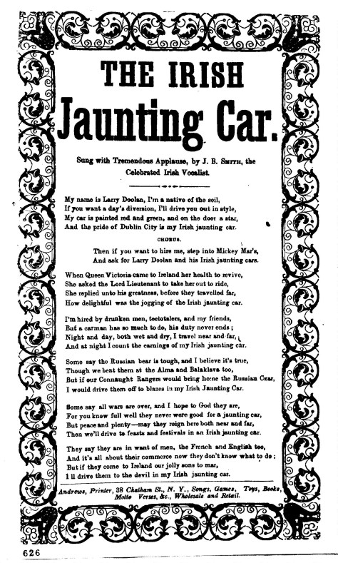 Irish Jaunting Car Song