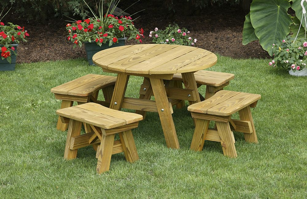 outdoor table and chairs wood padded club chair furniture classic heavy duty 32 inch round child s