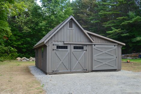 Building Spotlight  12x26 White River Garage w Enclosed LeanTo  Custom Barns and Buildings