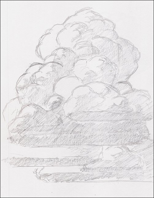 Drawing Mini Clinic - How to Draw Thunderhead Clouds, Demo 1, Part 3