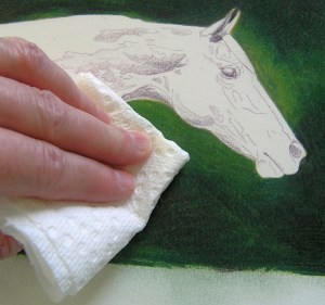 Blending with Paper Towel