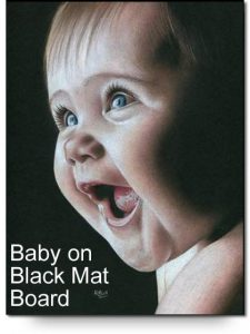 Baby Girl on Black Mat Drawing Kit