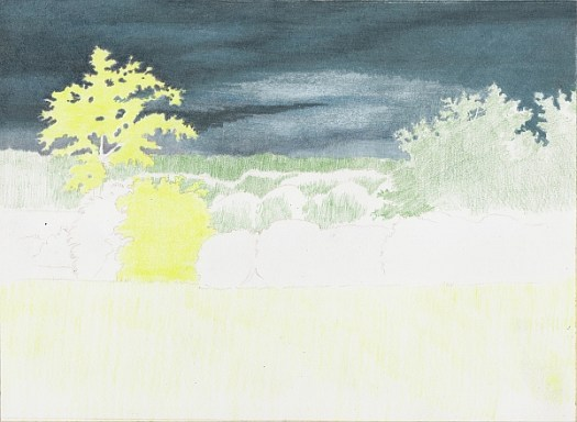 How to Draw a Stormy Sky Step 5