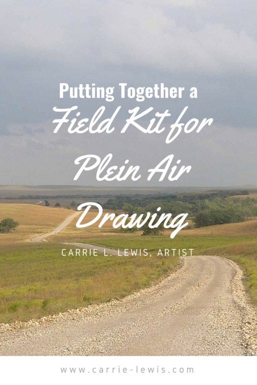 Putting Together a Field Kit for Plein Air Drawing