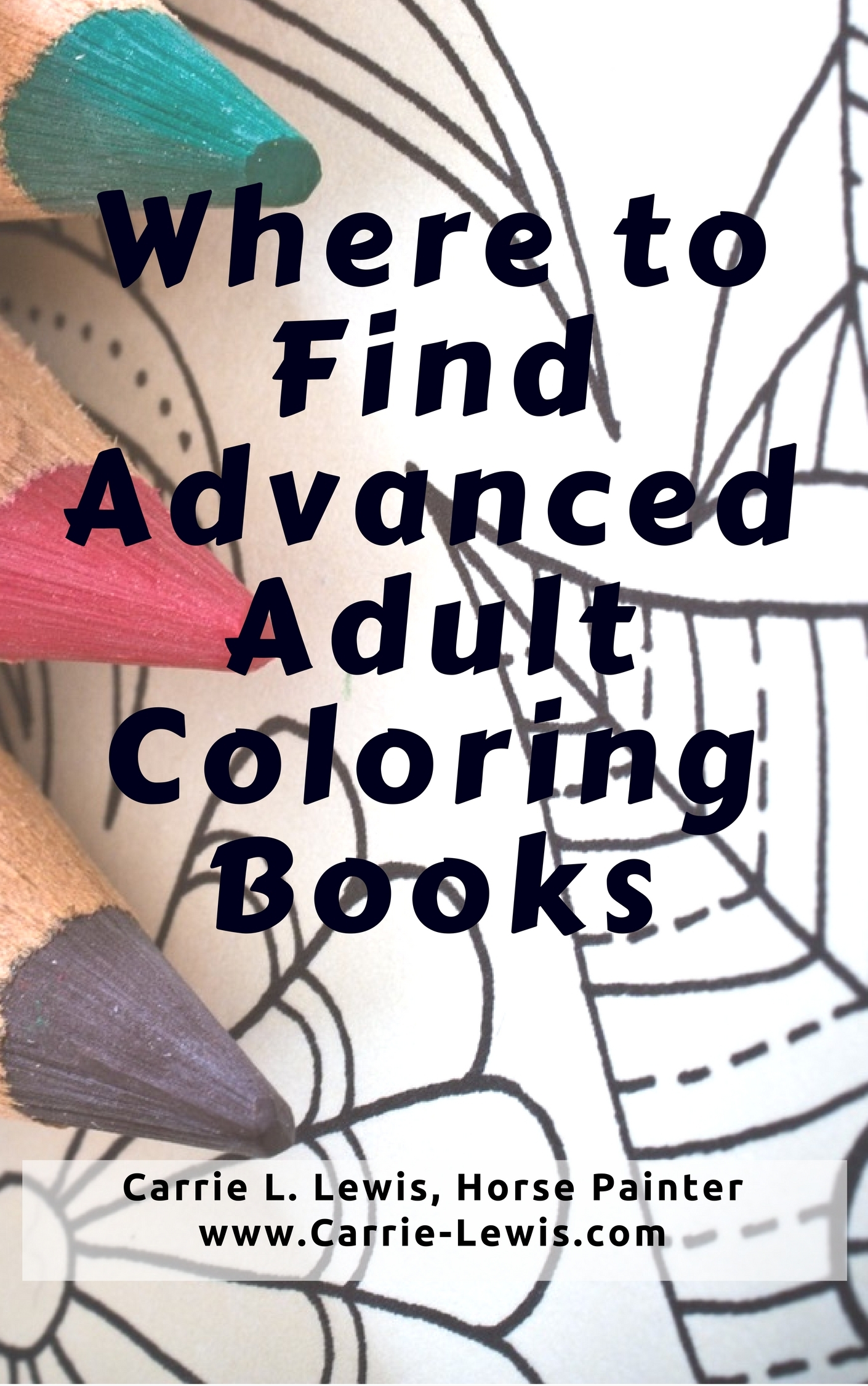 Where To Find Advanced Adult Coloring Books - Carrie L. Lewis, Artist