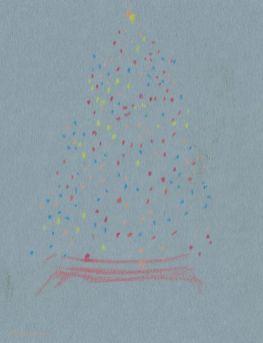 2017 Plein Air Drawings - 2017-12-29 Christmas Lights