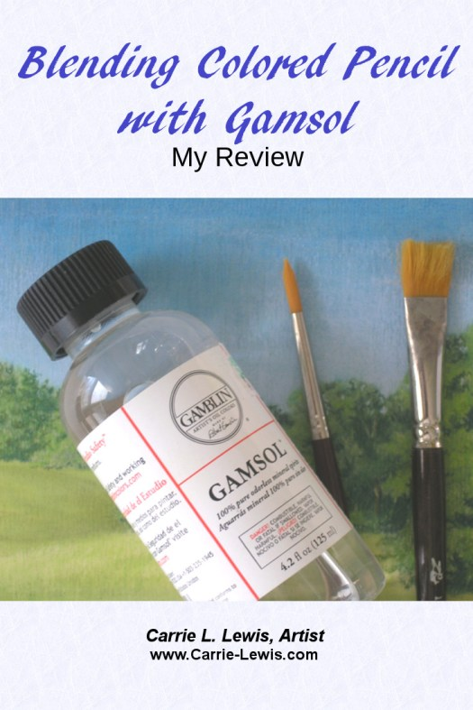 Blending Colored Pencil with Gamsol - My Review