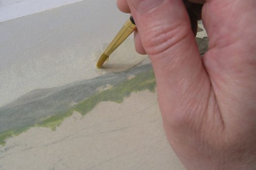 How to Finish a Sky in Colored Pencil - Step 2a
