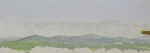 How to Finish a Sky in Colored Pencil - Step 2b