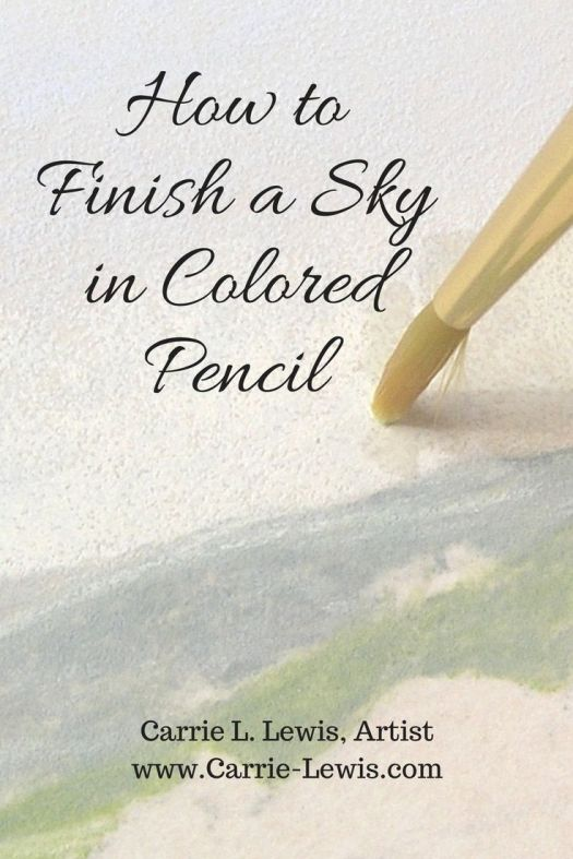 How to Finish a Sky in Colored Pencil