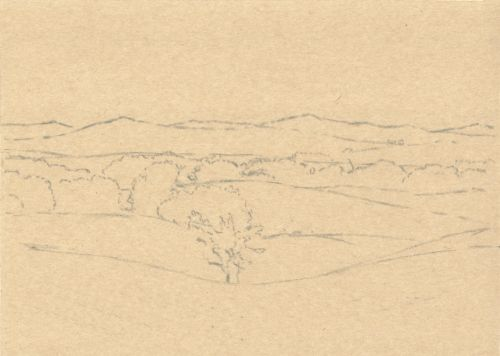 How to Sketch a Composition Directly on Paper Step 4