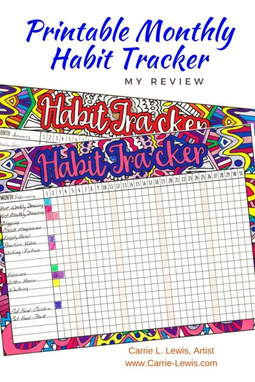 Printable Monthly Habit Tracker Review 2