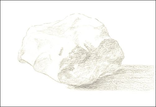 Draw Wet Stones - Step 2 First Shading