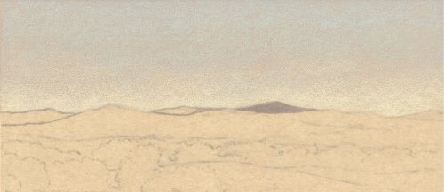 How to Draw Far Distance on Sanded Art Paper - Step 1