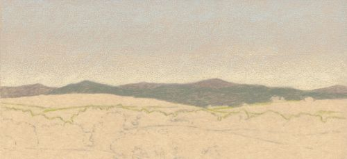 How to Draw Far Distance on Sanded Art Paper - Step 5