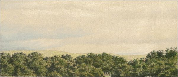 Umber Under Painting - Cloudy Landscape 25