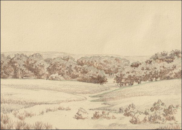Umber Under Painting - Cloudy Landscape 5