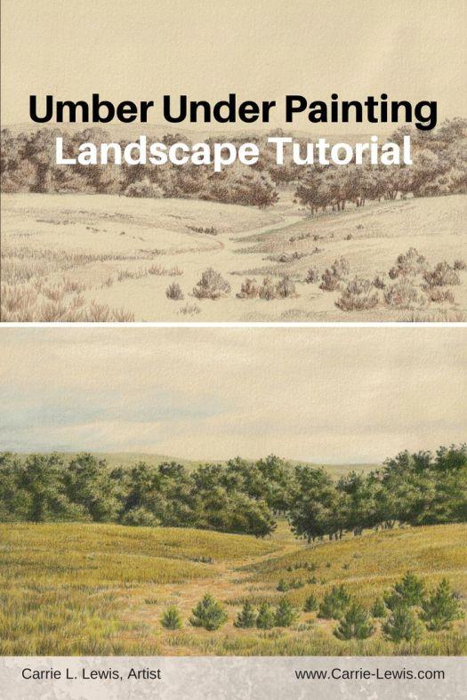 Umber Under Painting Landscape Tutorial