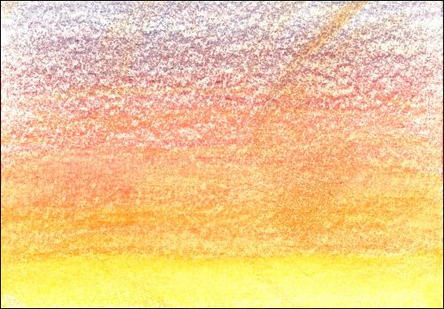 How to Draw a Sunset Sky with Watercolor Pencils Step 1