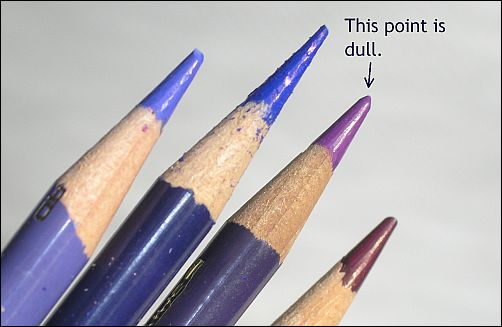 When to Use Blunt Colored Pencils - Dull