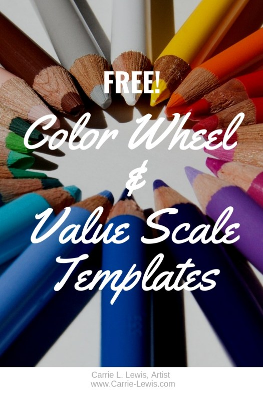Free Color Wheel & Value Scale Templates