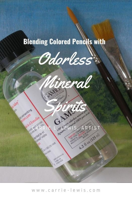 Blending Colored Pencils with Odorless Mineral Spirits