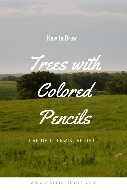 How to Draw Trees with Colored Pencils