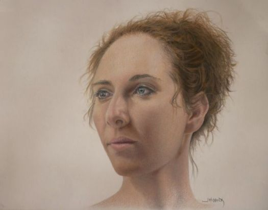 Amy, Colored Pencil Portrait by John Middick